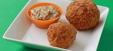Curried turkey croquettes